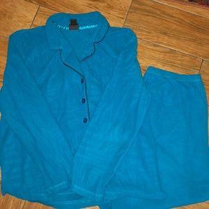 Covington teal pajama set size LG